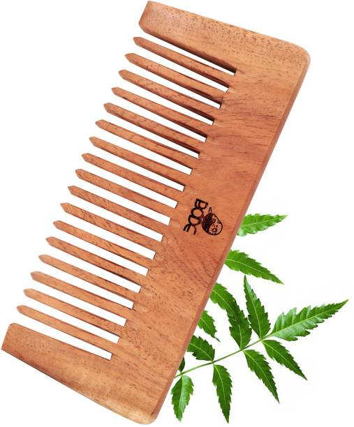 BODE Handmade Natural Neem Wooden Comb Wide Tooth for Hair Growth,Anti Dandruff Wood Comb For Women And Men