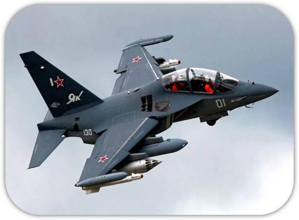Monk Matters Fighter Jet Design Non-Slip Rubber Base Gaming & Laptop (MPAD00400) Mousepad
