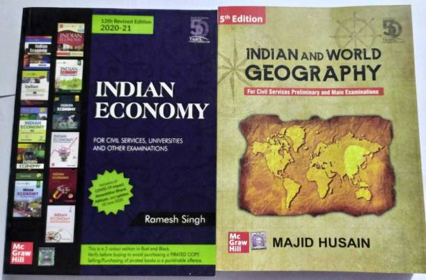 Combo Of Indian Economy, Indian And World Geography