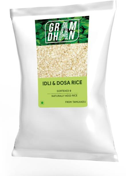 GRAMDHAN Idli Rice /Idly Rice/Dosa Rice 5kg (Medium Grain) Idli Rice (Medium Grain, Unpolished)