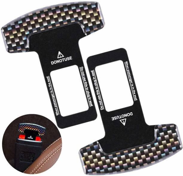 carfrill 2 Pack Universal Seat Belt Buckle Alarm Stopper Auto Metal Belt Plugs Car Seat Belt Clip Seat Belt Buckle
