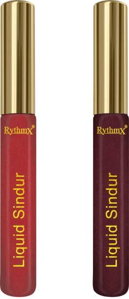 RYTHMX Combo 100 % Natural Bridal Makeup Matte Liquid Sindoor Sindoor