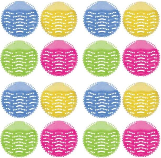 qthinfra Urinal Screen Mat Set (Multicolour) -16 Pieces Lemon Mat Toilet Cleaner