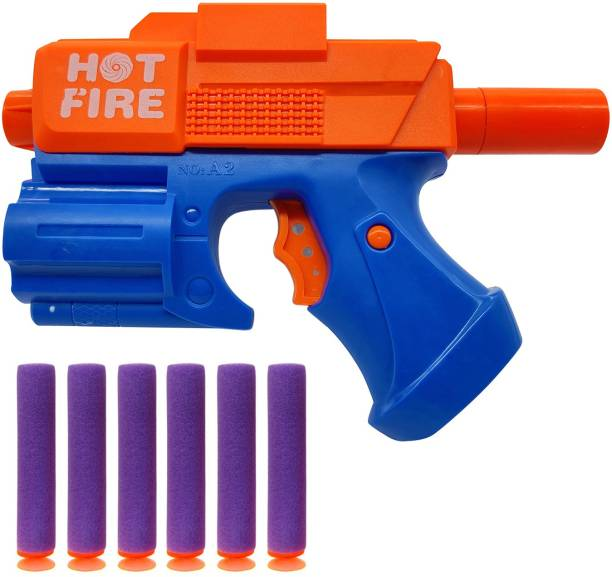 Miss & Chief Toy Soft Bullet Gun With 6 Foam Bullets & Light Toy Guns for 3+ Kids, Durable and Safe Design, Easy To Operate Playtime Guns for Shooting Imaginary Targets Guns & Darts