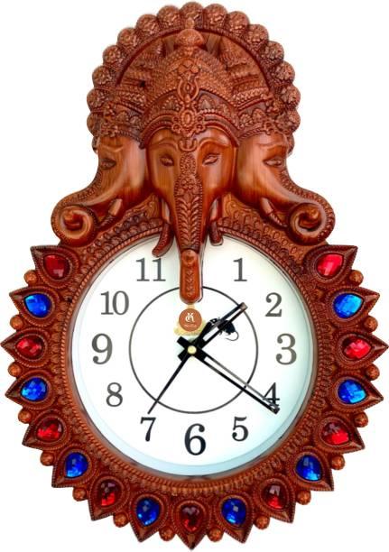 Khatu Crafts Analog 34 cm X 24 cm Wall Clock