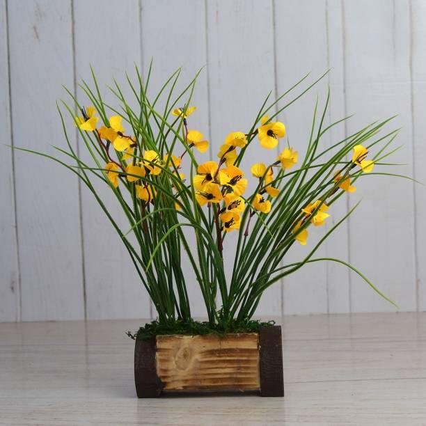 Flipkart SmartBuy Yellow Wild Flower Artificial Flower  with Pot