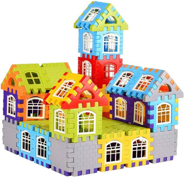 kluzie BEST BUY happy house Building Blocks,Creative /Learning Toy/Educational Toy/For Kids Puzzle Best Gift Toy, Block Game for Kids,Boys,Children