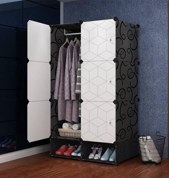 Sasimo 6-Door 4-Shelf Cube Organizer Carbon Steel Collapsible Wardrobe