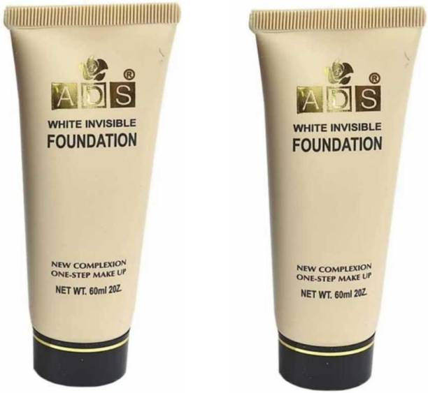 ads White Invisible Foundation ( Combo Pack of 2) Foundation (Beige, 60 ml) Foundation