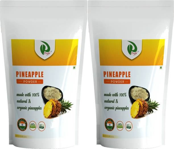 Dryfii Natural Spray Dried Pineapple powder Pack of 2 (100x2), No Added Sugar, No Preservatives