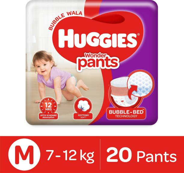 Huggies Wonder Pants with Bubble Bed Technology - M