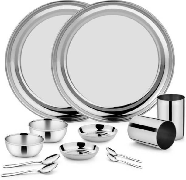 Classic Essentials by Classic Essentials Pack of 12 Stainless Steel Simplex Dinner Set