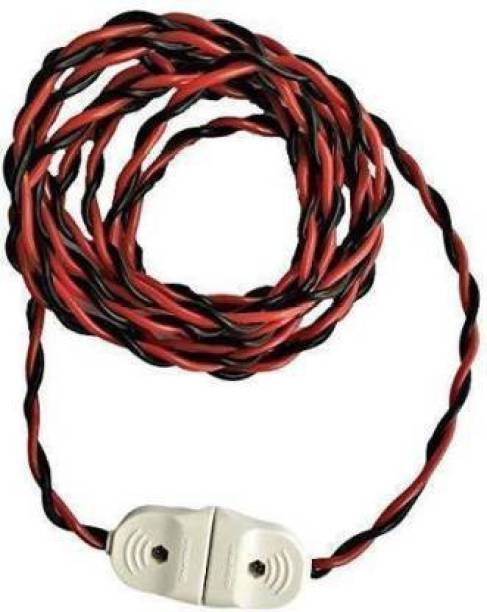 JElectricals 2-Pin Flexible Male-Female Socket, 23/76 Wire, Extension Cord for Multipurpose Use, Festive Decorations, Diwali, Christmas etc. ( 2 Meter ) 6 A Two Pin Socket