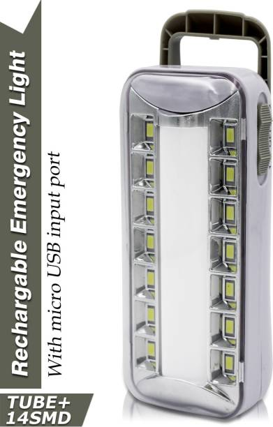 Make Ur Wish 14 Bright LED +1 Tube With Android Charging Rechargeable Lantern Emergency Light