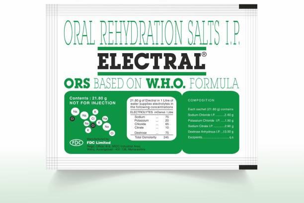 Electral Regular Powder 21.8 gm (Pack of 30) Energy Drink (30x1 Sachets, Regular Flavored) Energy Drink