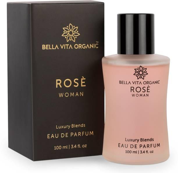 Bella vita organic Rose Woman EDP Luxury Rose Perfume With Long Lasting Floral Fragrance Eau de Parfum  -  100 ml