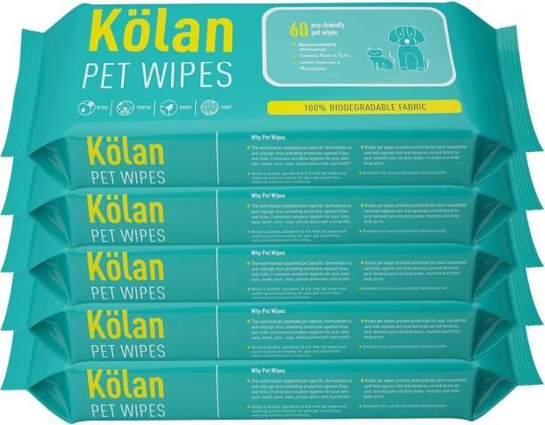 Kolan Eco- Friendly Pet Ear Eye Wipes