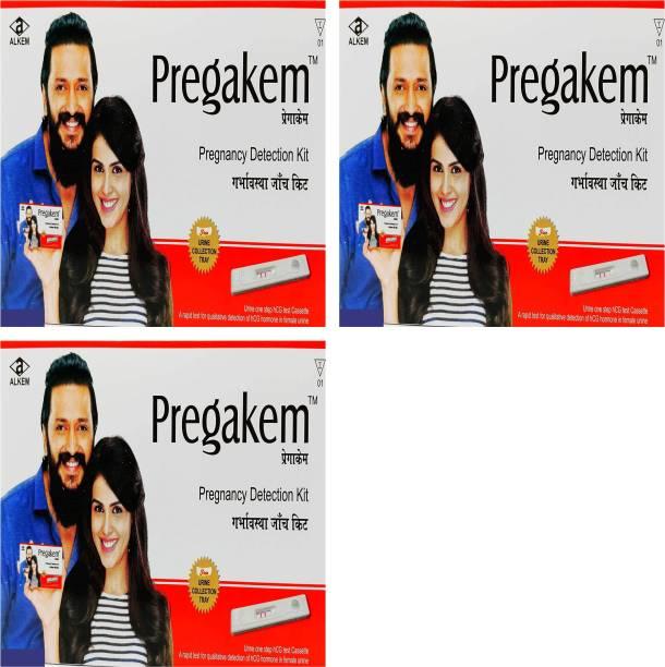 pregakem Pregnancy Detection Kit Pack Of 3 Digital Pregnancy Test Kit
