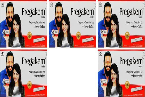 pregakem Pregnancy Detection Kit Pack Of 5 Digital Pregnancy Test Kit