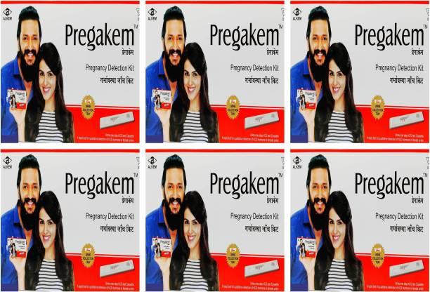 pregakem Pregnancy Detection Kit Pack Of 6 Digital Pregnancy Test Kit
