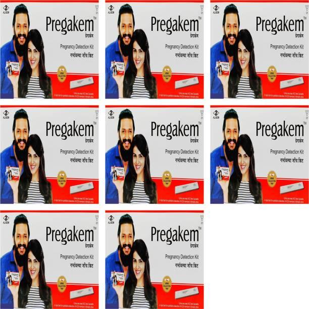pregakem Pregnancy Detection Kit Pack Of 8 Digital Pregnancy Test Kit