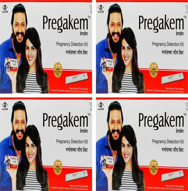 pregakem Pregnancy Detection Kit Pack Of 4 Digital Pregnancy Test Kit