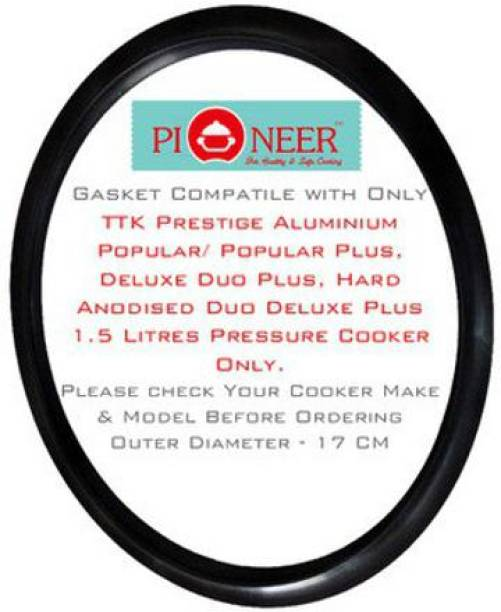 Pioneer Compatible with 1.5 Litre Prestige Aluminium | Steel | Hard Anodised 1.5 litre Outer Lid Pressure Cooker(Pack of 1) 145 mm Pressure Cooker Gasket
