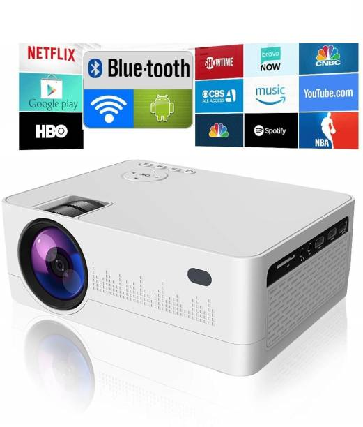 IBS WIFI ANDROID 9.0 YOUTUBE NETFLIX HD LED 3D Projector BLUETOOTH 5000 Lumens, HDMI USB VGA AV, 1280*720P Portable Projector