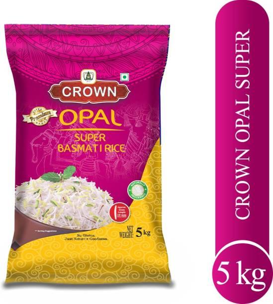 Crown Rice Opal Super Quality Long Grain, Gluten Free,Double ,100% Natural Basmati Rice (Long Grain, Polished)