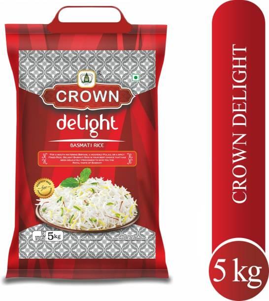 Crown Rice Delight Premium Quality Long Grain,Gluten Free, Double , 100% Natural Basmati Rice (Long Grain, Polished)