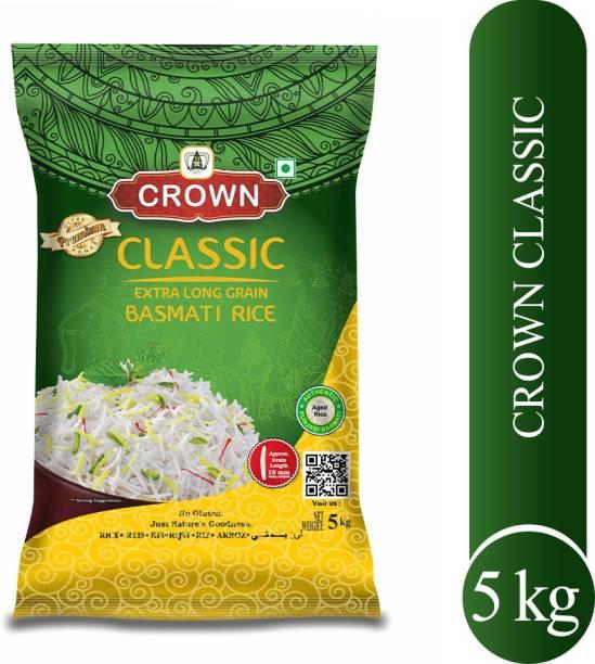 Crown Rice Classic Long Grain, Gluten Free,Double ,100% Natural Basmati Rice (Long Grain, Polished)