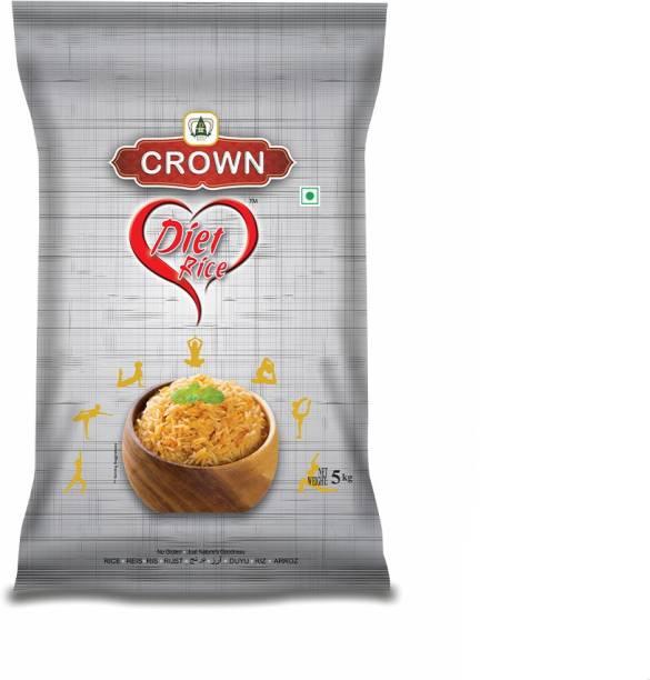 Crown Rice Diet Rice Long Grain,Gluten Free, Double , 100% Natural Yellow Basmati Rice (Long Grain, Polished)