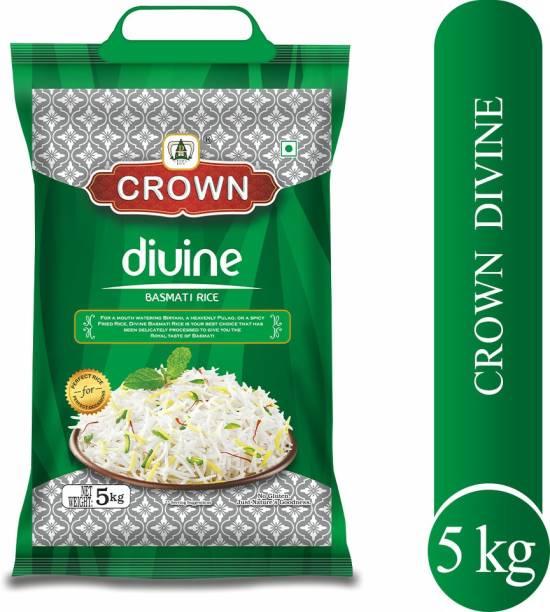 Crown Rice Divine Premium Quality Long Grain,Gluten Free, Double ,100% Natural Basmati Rice (Long Grain, Polished)