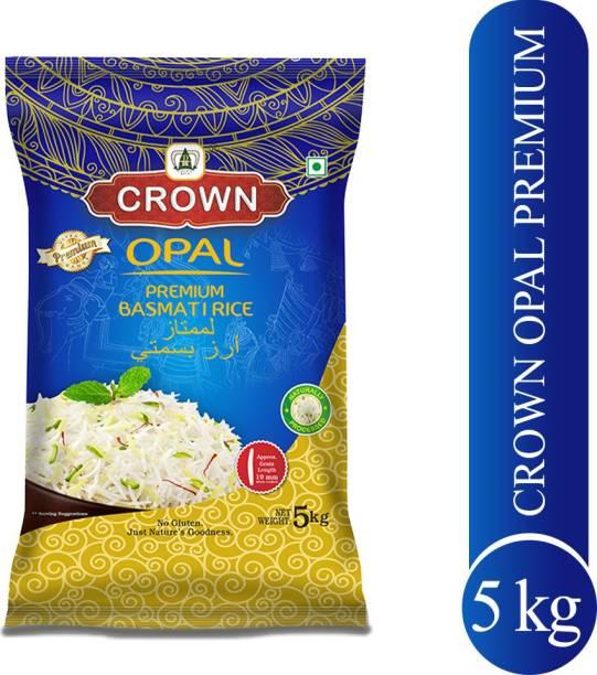 Crown Rice Opal Premium Quality Long Grain, Gluten Free,Double ,100% Natural Basmati Rice (Long Grain, Polished)