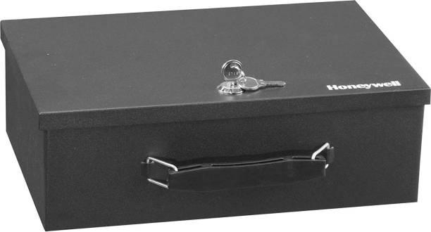 Honeywell 6104 Fireproof Steel Security Safe Box with Key Lock, 0.17-Cubic Feet, Black Safe Locker