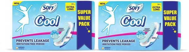 SOFY Cool Sanitary Napkins (54+54 Pads) Sanitary Pad