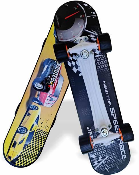"Jaspo Turbo 26""x 6.25"" Inches Fiber Beginner Skateboard for 8 yrs & Above (Need for Speed) 6.6 inch x 27.6 inch Skateboard"