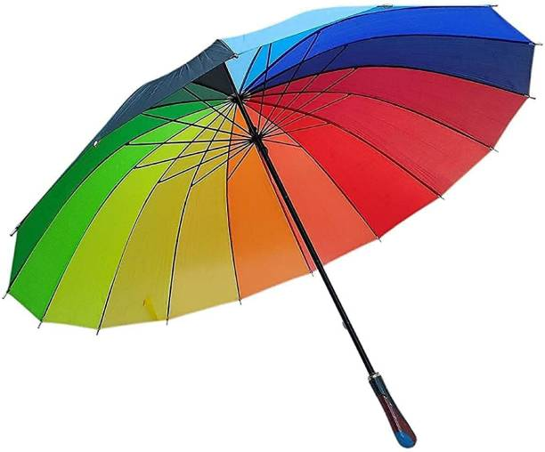 AK10ZONE Umbrella Multi-Color Rainbow Umbrella for Girls, Men, women, boys (size jumbo) Umbrella (Multicolor) Umbrella (Multicolor) Umbrella