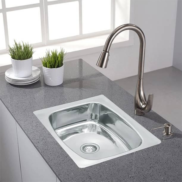Zesta Stainless Steel Vessel Sink 24 X 18 X 10 Inch Gloss Finish Vessel Sink