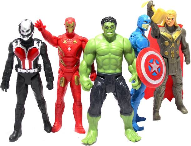 WOW toys Super Hero Action Figures    Iron Man  Hulk   Pack of 5   4.5 inch