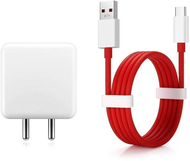 CIHLEX 5V 6A 30W Oneplus Original USB Type C Warp Charger Cable Nylon Braided for OnePlus 6T, Oneplus 7, Oneplus 7T, Oneplus 7T Pro, Oneplus 6, Oneplus 6T, Oneplus 5T, Oneplus 5, Oneplus 3T, Oneplus 3, Oneplus 8, Oneplus 8 pro, Oneplus nord, realme x,/ realme xt Realme 6 Pro / Realme6 Pro And Oppo Reno/Oppo 2/Oppo 2Z/Oppo 2F/Oppo Reno 10x Zoom/Oppo k3 Charger Original Adapter Like Mobile Charger   Type-C Charger Cable Fast Charging Mobile Charger   Fast Charger   Android Charger with 1 Meter USB Type-C Charging Data Cable 30 W 5 A Mobile Charger with Detachable Cable. 30 W 5 A Mobile Charger with Detachable Cable