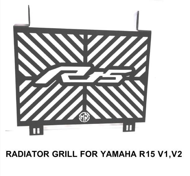 imad RADIATOR GIRLL FOR R15 V2/V1 BLACK Bike Radiator Guard