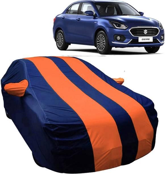 UK Blue Car Cover For Maruti Suzuki Swift Dzire (With Mirror Pockets)