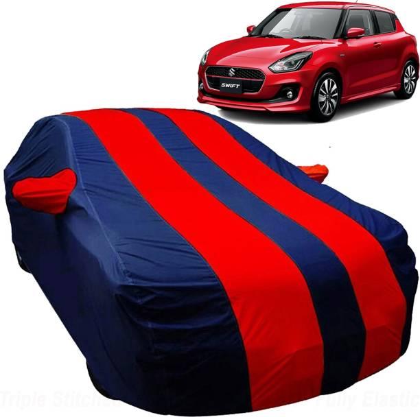UK Blue Car Cover For Maruti Suzuki Swift (With Mirror Pockets)