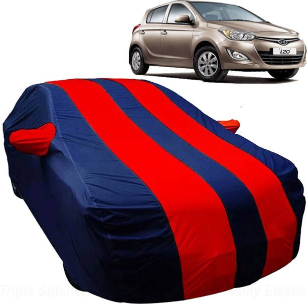 UK Blue Car Cover For Hyundai i20 (With Mirror Pockets)