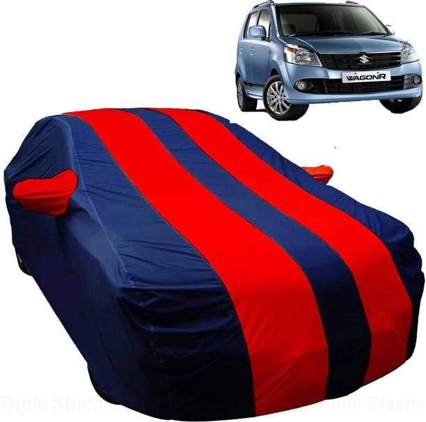 UK Blue Car Cover For Maruti Suzuki WagonR (With Mirror Pockets)