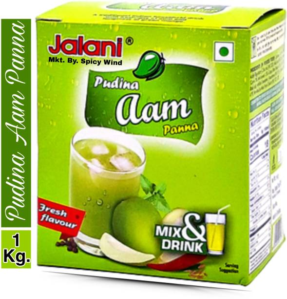 spicy wind Instant beverage mix powder with the freshness of mint and tanginess of green mango for making traditional Indian household Pudina Aam Panna / Karry Pani 1000 GM