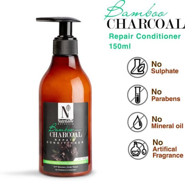 NutriGlow NATURAL'S Bamboo & Charcoal Repair Conditioner / Anti Dandruff / Scalp Repair / Conditioner For Damaged Hair
