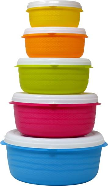 Flipkart SmartBuy Kanvas 5 Pcs set Containers  - 300 ml, 500 ml, 1000 ml, 1400 ml, 2400 ml Plastic Grocery Container