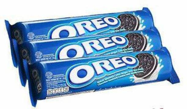 OREO original Biscuit Vanilla Flaoured , 133X3gm (Imported) (Pack of 2)
